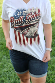 Ole' Ball Game - Graphic Tee - V-Neck