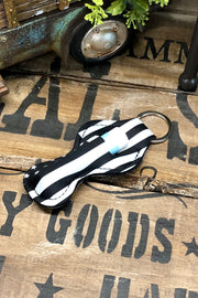 The American Way - Lipstick/Lip Balm Holder - Black and White Flag