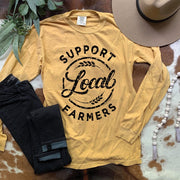 Support Your Local Farmers - Graphic Long Sleeve Tee