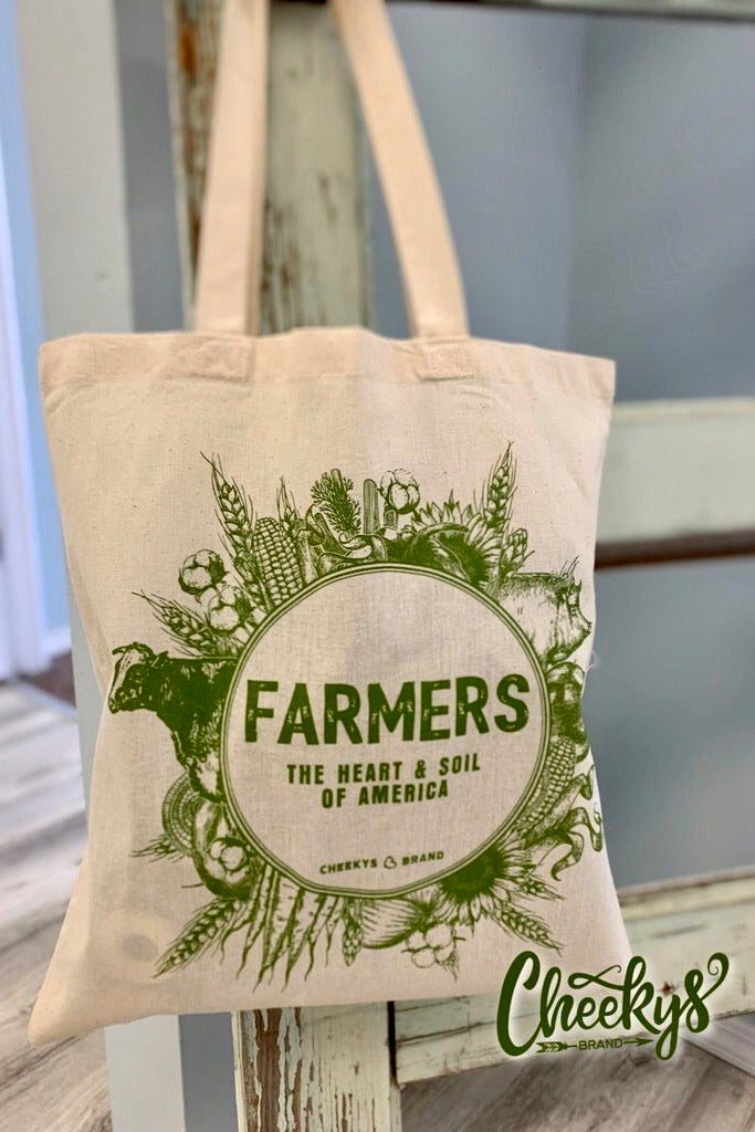 Canvas Tote - Farmers Are The Heart and Soil of America