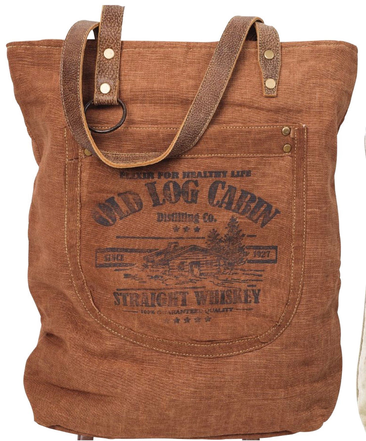 Old Log Cabin Whiskey - Large Tote