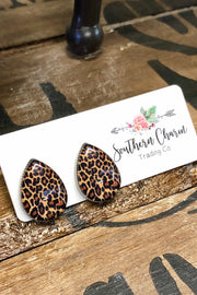 Earrings - Heathcliff - Leopard Teardrops
