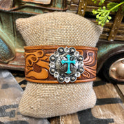Glory I Say - Leather Cuff Bracelet