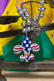 Stars and Stripes - Mardi Gras Necklace