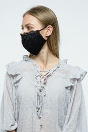 Carbon Insert Face Mask - Black Lace