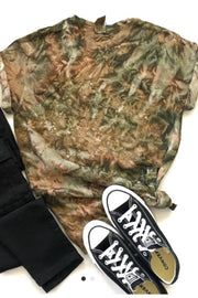Wandering in the Woods - Hand Tie Dye Camo Tee
