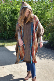 Saddle Up & Ride - Full Alpaca Overcoat - Aztec Brown