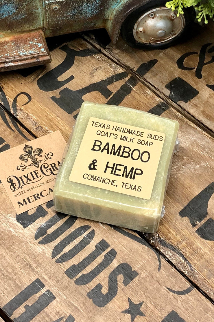Bamboo & Hemp - Goat's Milk Bar Soap