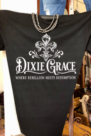 Dixie Grace - Where Rebellion Meets Redemption - Black - Graphic Tee
