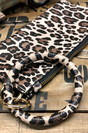 Out of the Shadows - Wristlet Clutch w/ Bangle - Leopard