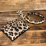 Leopard - Wristlet ID Clutch w/ Bangle