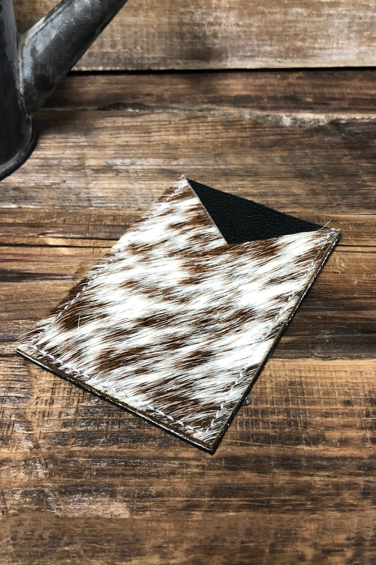 Brown Hair on Hide - ID Pouch for Phone