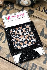 Can Cooler - Leopard Sequin