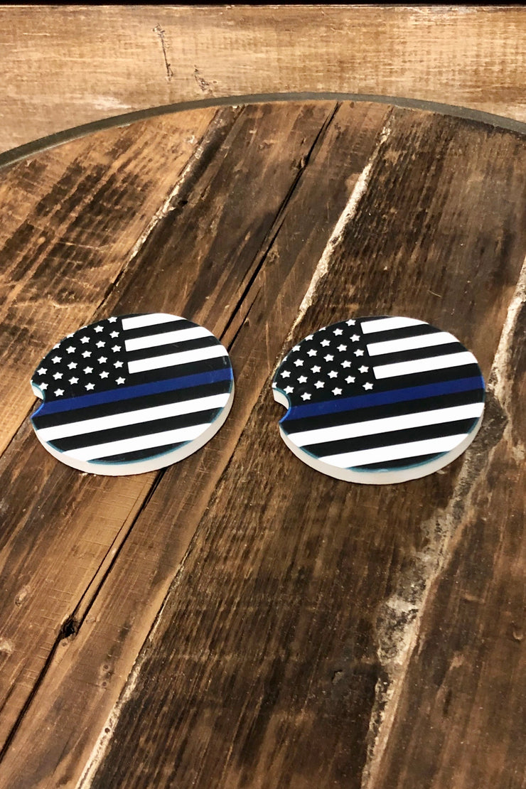 Blue Line - Car Coaster - Set of 2