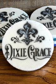 Dixie Grace Logo White - Bath Bomb