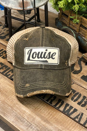 Hat - Louise - Vintage Distressed Trucker Hat