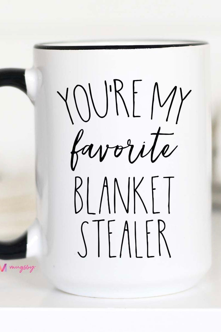 You're My Favorite Blanket Stealer - Large Ceramic Mug