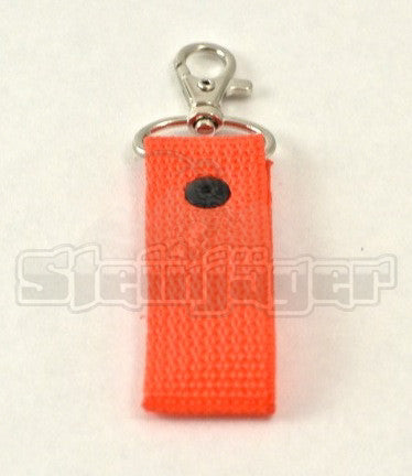 1 Pack, Orange Zipper Pull/Key Chain Fob. 3 inches long.