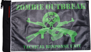 Zombie Outbreak Tactical Response Unit Flag