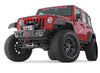 Rock Crawler Stubby Front Bumper No Grille Guard Tube 07-12 Jeep Wrangler JK Warn Industries