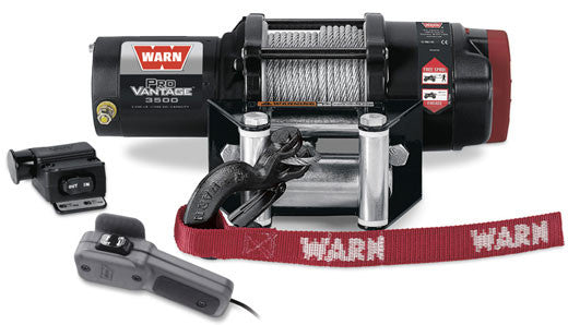 Warn ProVantage 3500 ATV Winch 50' Wire Rope W/Plow Roller Fairlead 3,500 Lb Capacity