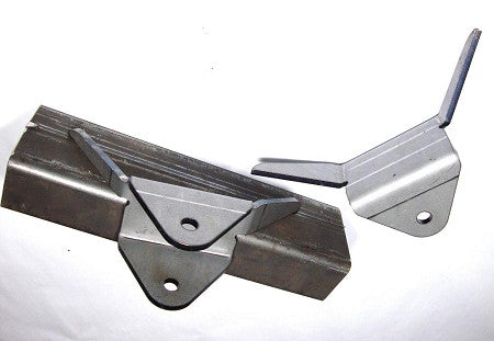 "Inner Frame Link Mount Bracket Pair 2"" Wide - 10 Degree - 1/2"" Bolt Hole"