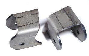 "Tube Link Mount Bracket Pair 2"" Wide - 0 Degree - 1/2"" Bolt Hole"