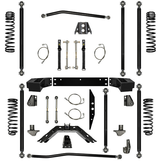 2.5 Inch Lift Kit Off-Road Pro Long Arm System W/ 3 Stretch 07-Pres Wrangler JK 2 Dr Rock Krawler