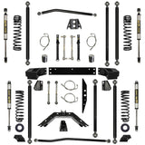 2.5 Inch Lift Kit W/Shocks Off-Road Pro Long Arm System Stg 1 07-Pres Wrangler JK Unlimited 4 Dr Rock Krawler