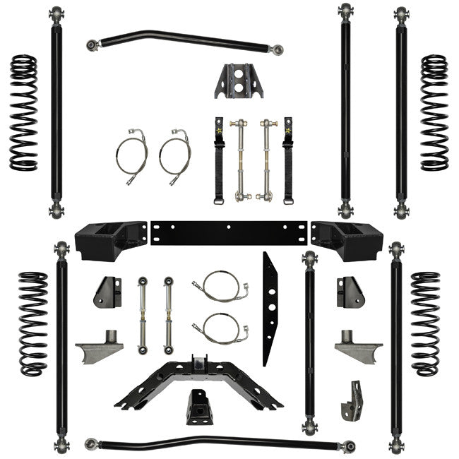 2.5 Inch Lift Kit Off-Road Pro Long Arm System W/ 6 Stretch 07-Pres Wrangler JK 2 Dr Rock Krawler