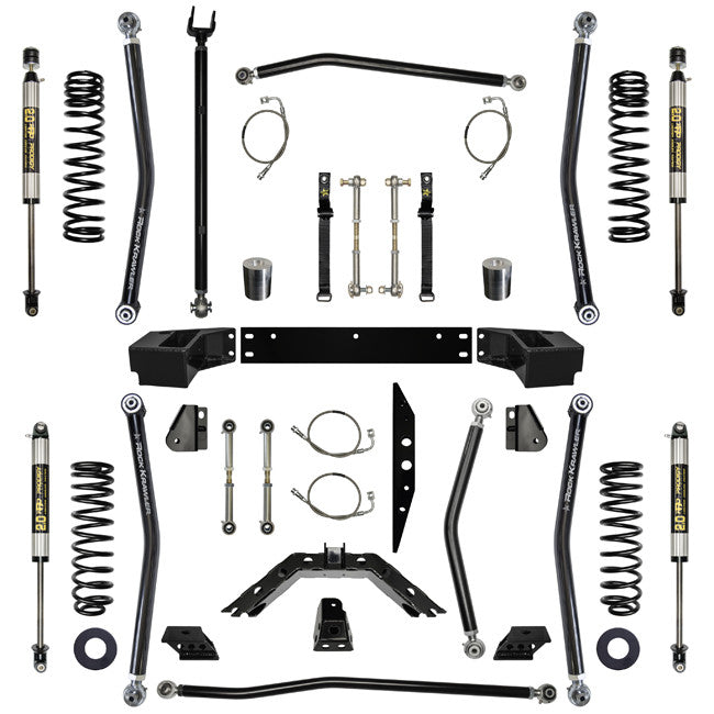 2.5 Inch Lift Kit W/Shocks X Factor Long Arm System Stg 1 07-Pres Wrangler JK Unlimited 4 Dr Rock Krawler