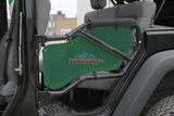 Jeep JK 2007-2016, Tube Door Cover Kit Rear Doors Only, Spruce Green. Made in the USA.