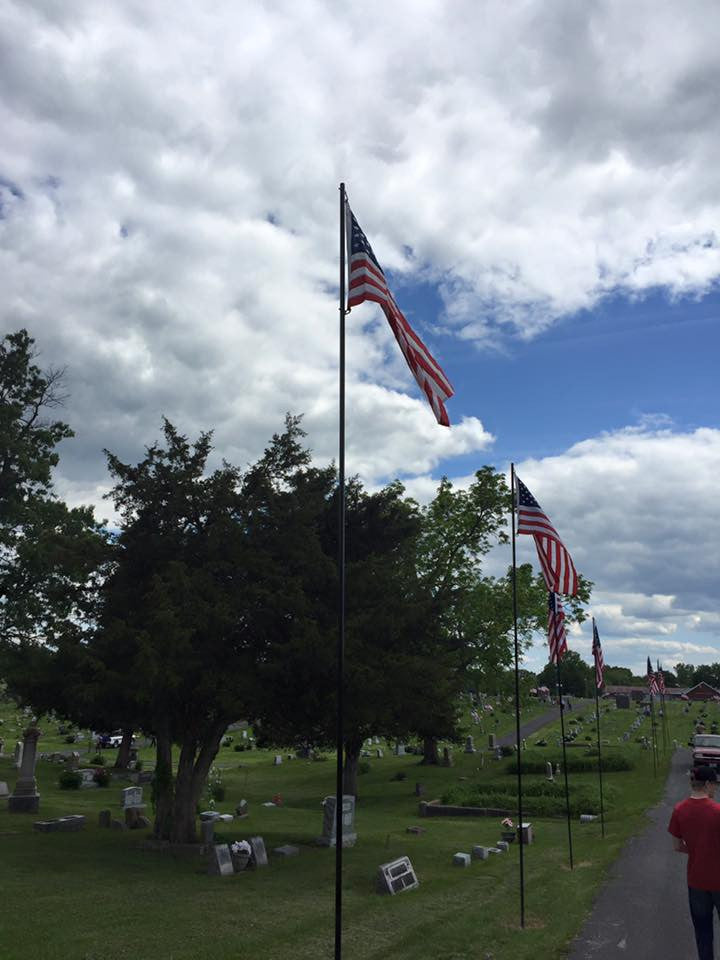 Video from Christy volunteering at flag raising at Oakland Cemetery May 18, 2016