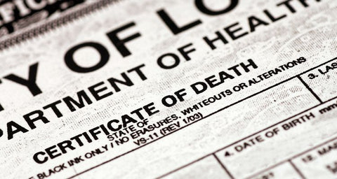 Certified Official State of Missouri Death Certificate (Additional Copy)