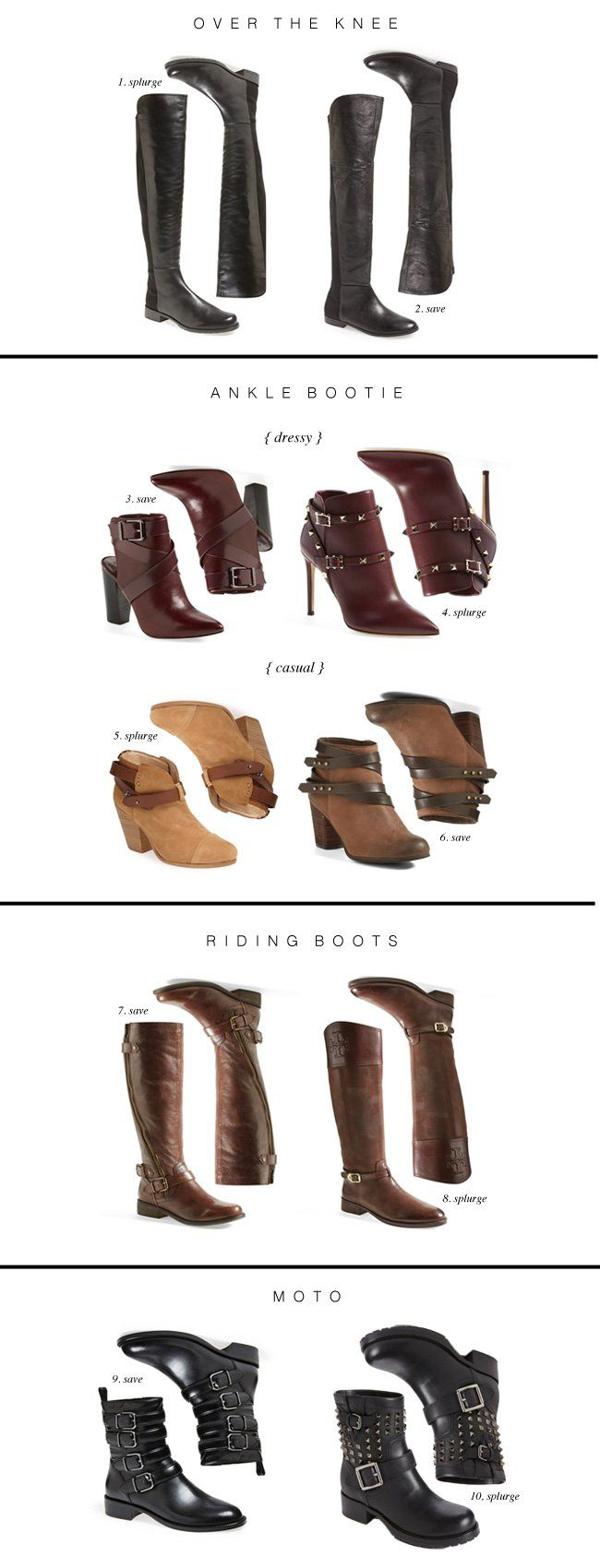 Fall Boot Guide: save or splurge...