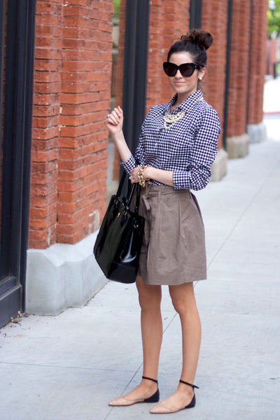 Gingham + Pearls...