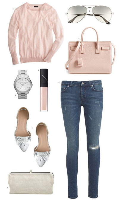 Inspiration Wednesday: Blush and Metallic…