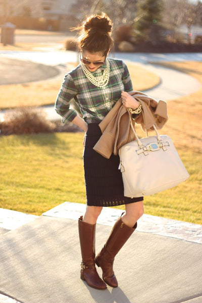 Knit+Plaid+Equestrian...