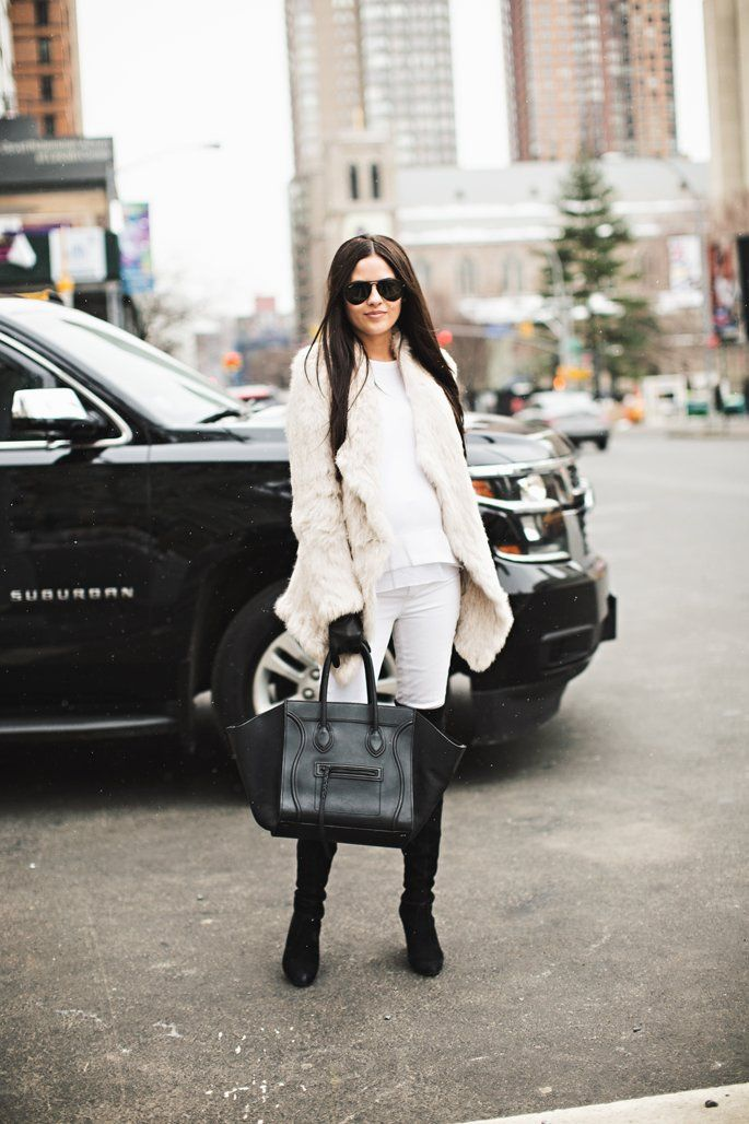 Winter Whites with Pops of Black…