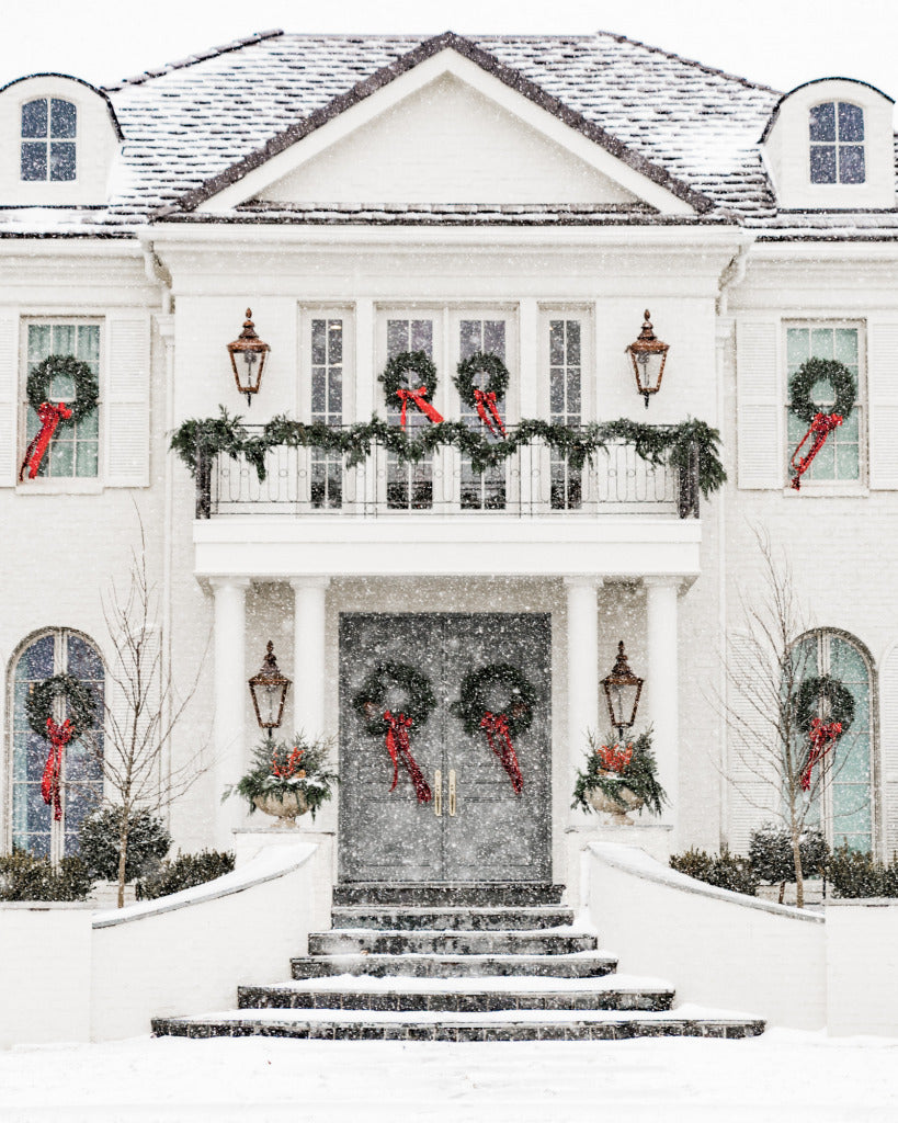 Rachel Parcell's home decorated for the holidays