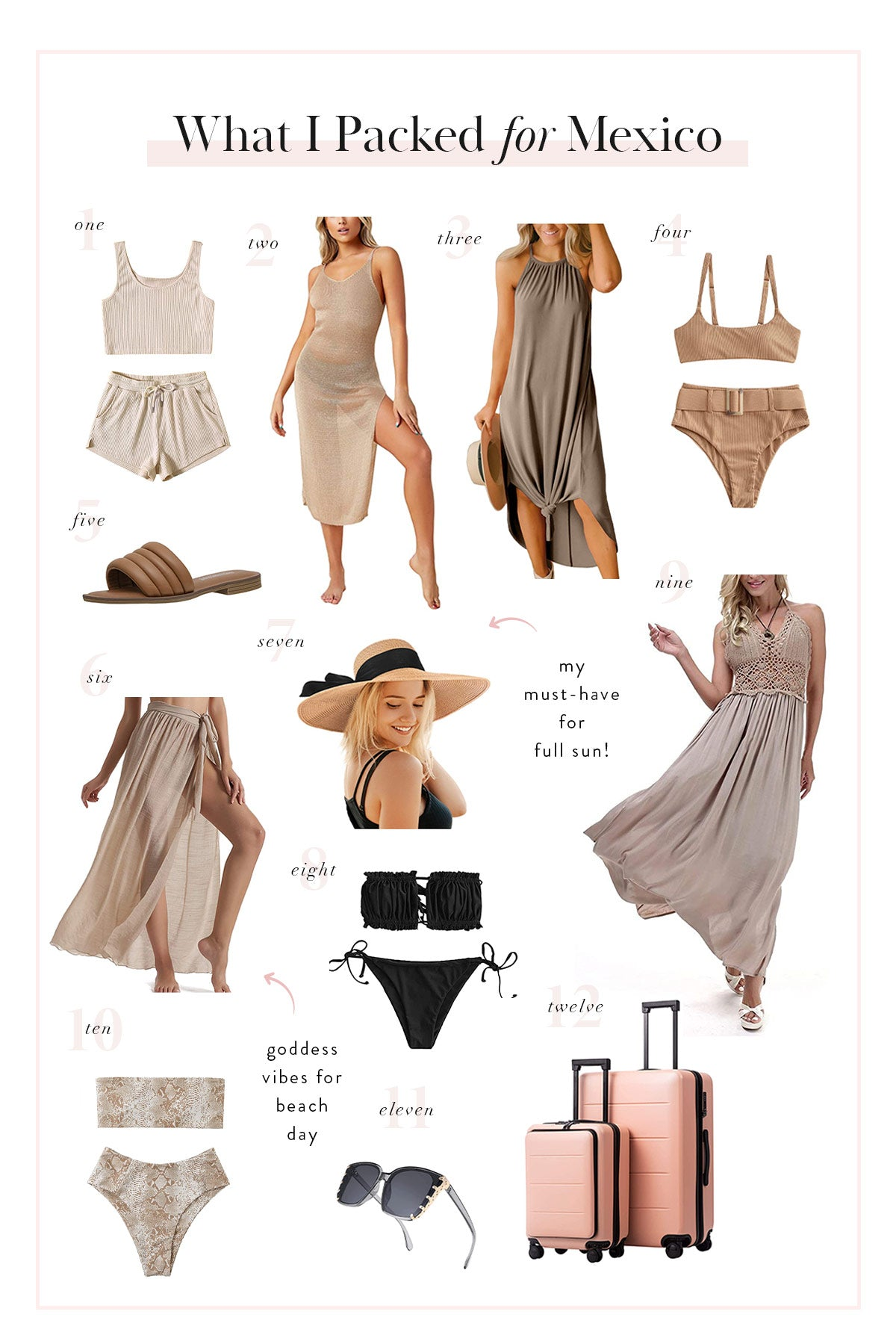 What to Pack for a Trip to Mexico