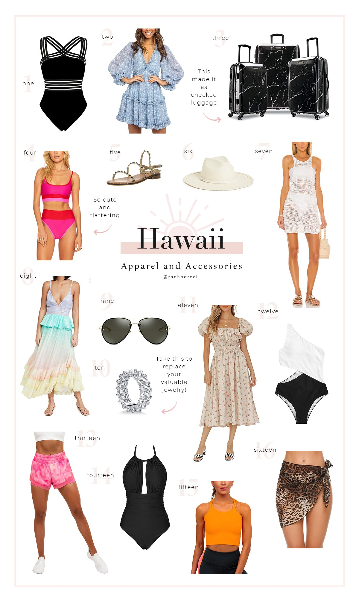 What I packed for Hawaii