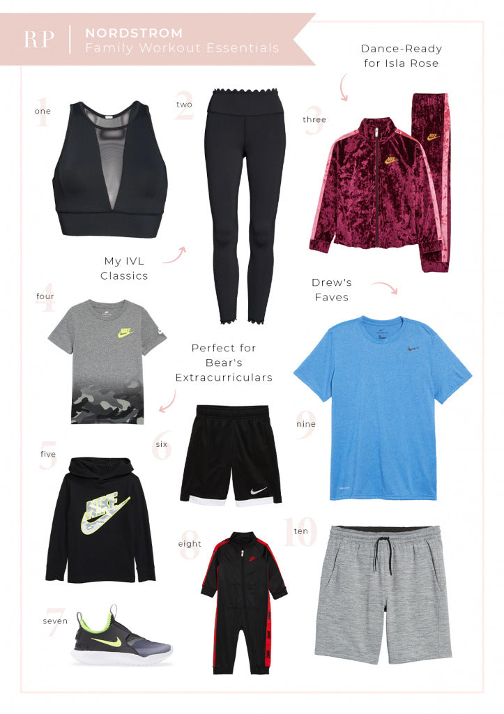 Nordstrom Workout Picks for Whole Family