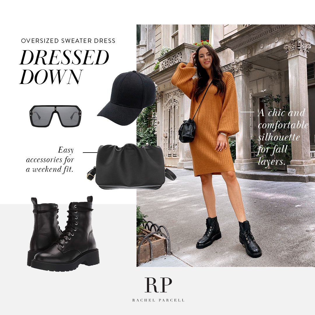 Dress Up or Down Oversized Sweater Dress