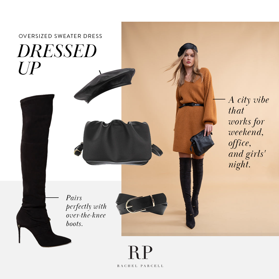 Accessories for Fall Sweater Dress