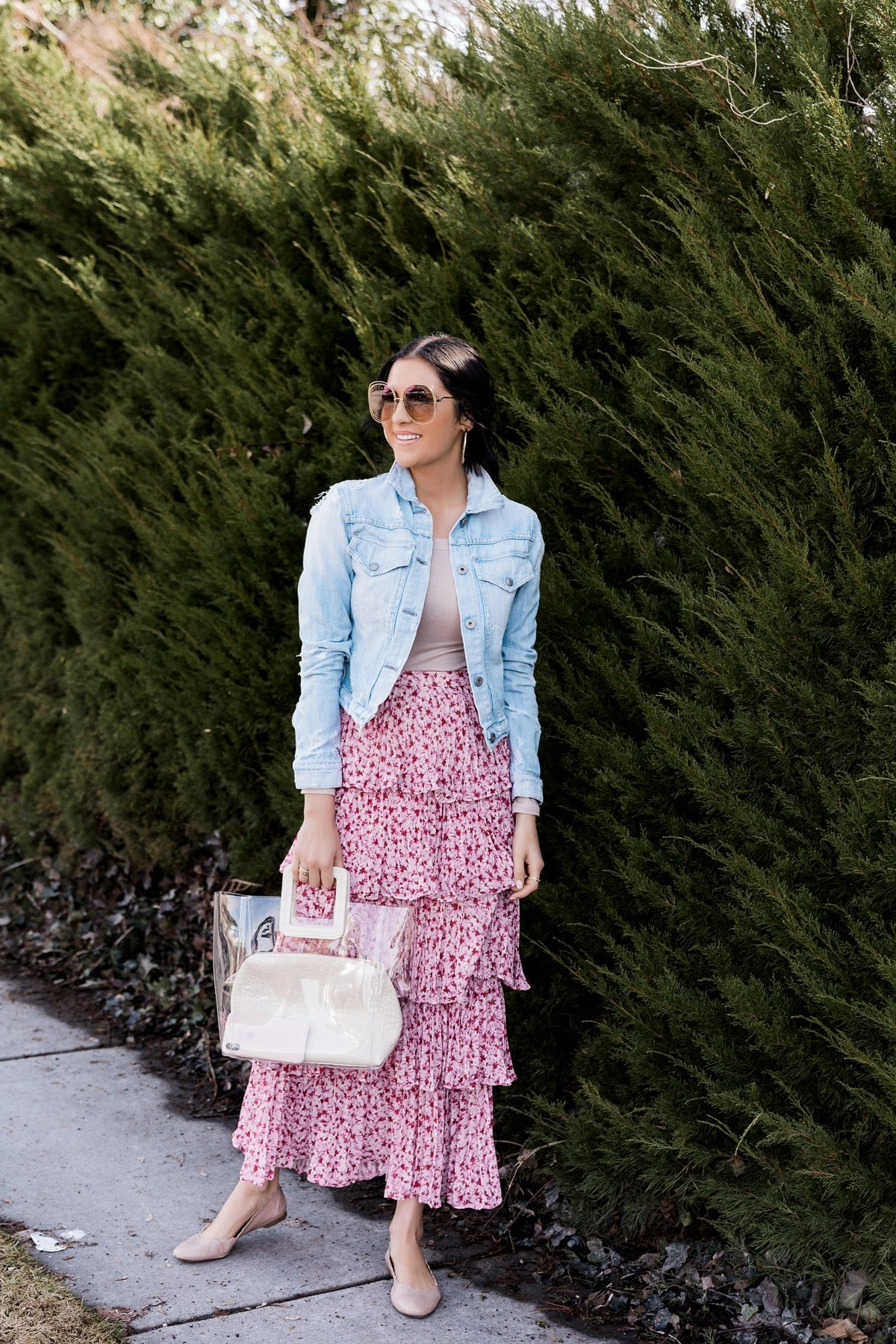 Rachel Parcell Tiered Floral Skirt