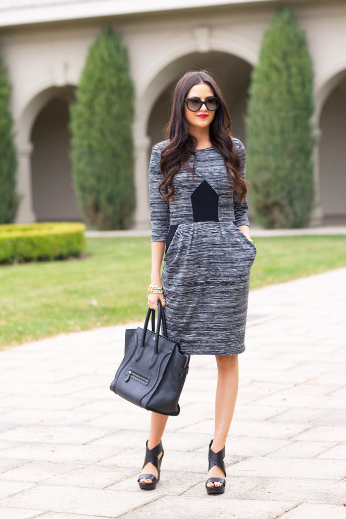 black-and-gray-french-connection-dress