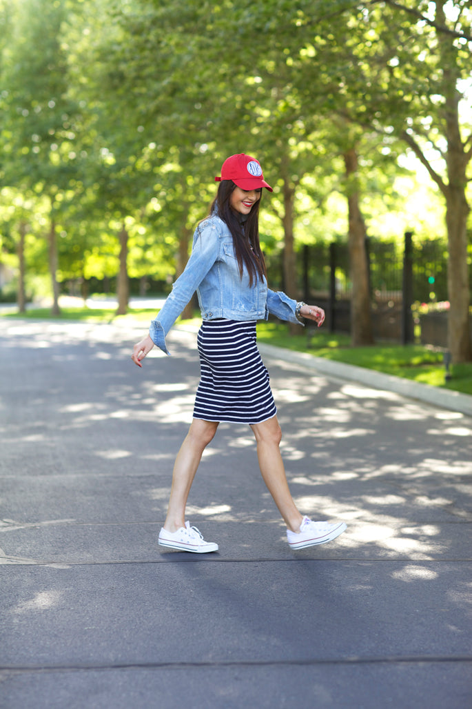 blue-and-white-striped-dress-fourth-of-july