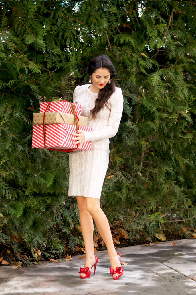 holiday-party-white-long-sleeved-dress