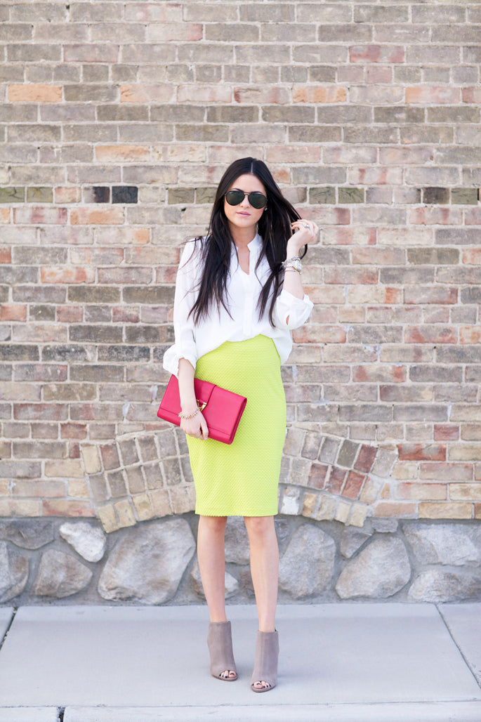 lime-green-stretch-pencil-skirt